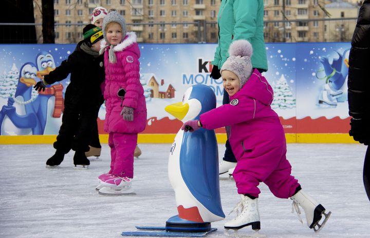 Каток для детей в парке Горького