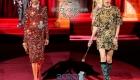 Dolce & Gabbana осень-зима 2019-2020 блестящее короткое платье