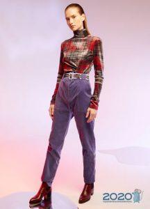 Модные сиреневые джинсы осень-зима 2019-2020