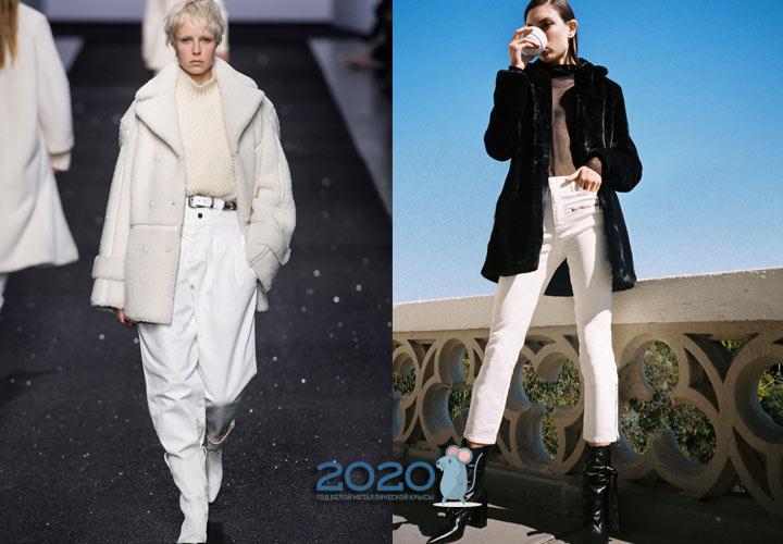 Модные белые джинсы осень-зима 2019-2020