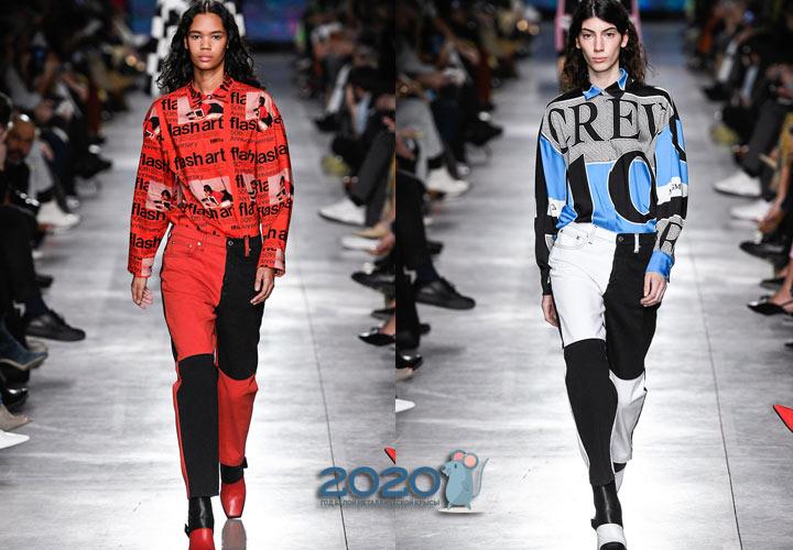 Модные разноцветные джинсы осень-зима 2019-2020
