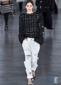 Мода сезона осень-зима 2019-2020 рваные джинсы