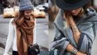 Модный широкий шарф 2020 года