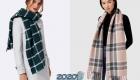 Модный клетчатый шарф 2020 года