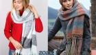 Модные модели шарфов с бахромой