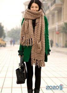 Модные варианты ношения шарфов