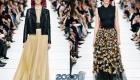 Модные юбки от Диор осень-зима 2019-2020