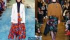 Юбки с цветочным принтом мода зимы 2019-2020