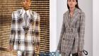 Модный пиджак в клетку осень-зима 2019-2020