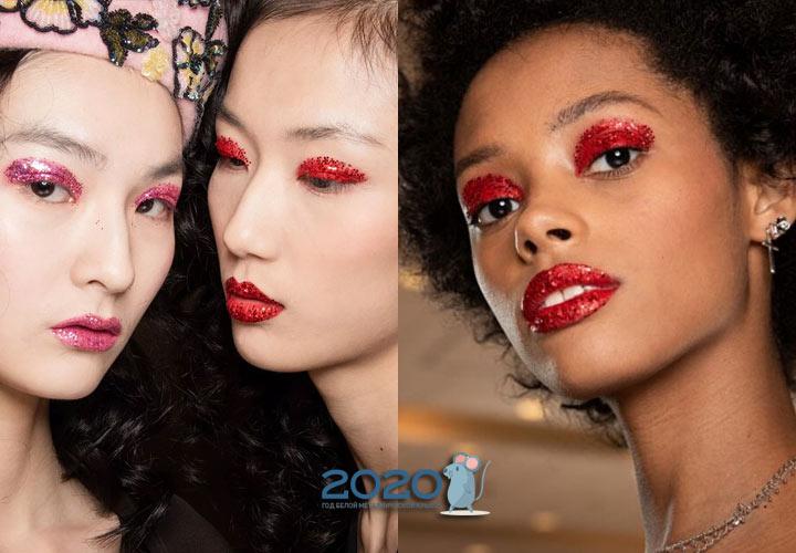Блестящий макияж на осень и зиму 2019-2020 года