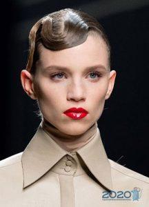 Яркая помада - модные идеи макияжа осень-зима 2019-2020