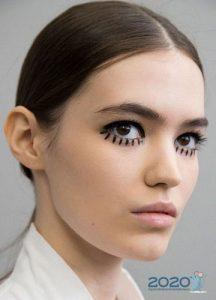 Модный макияж с показа Диор осень-зима 2019-2020