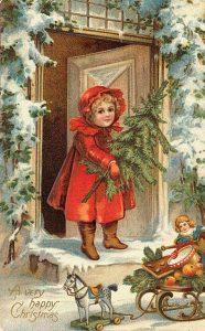 С Рождеством старинная открытка