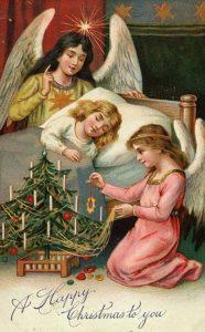 Рождественская открытка в стиле ретро