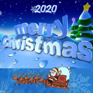 Открытка на Рождество с Сантой