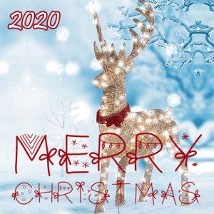 Необычная открытка к Рождеству 2020