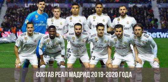 Состав Реал Мадрид на сезон 2019 2020