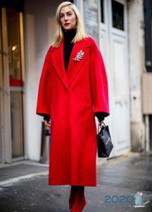 Модное пальто уличная мода осень-зима 2019-2020