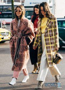 Street style пальто зимы 2019-2020 года
