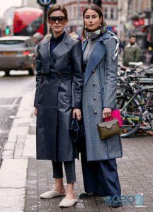 Street style классическое пальто 2019-2020 года