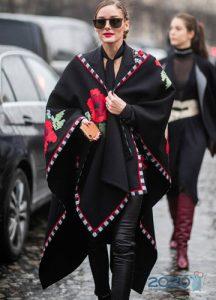 Пончо уличная мода 2019-2020 года
