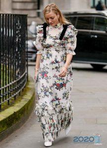 Платье уличная мода осень-зима 2019-2020 года