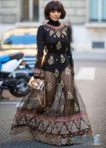 Прозрачное платье street-style 2019-2020