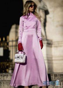 Атласное платье street-style 2019-2020