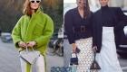 Треугольная сумка уличная мода 2019-2020 года