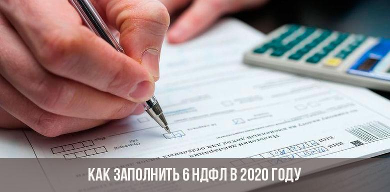 Заполнение формы 6 НДФЛ в 2020 году