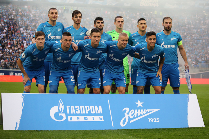 ФК Зенит на поле