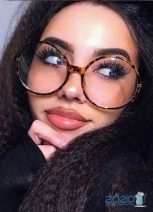 Круглые очки в роговой оправе мода 2020 года