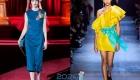 Модные цвета вечерних платьев 2019-2020 года