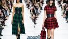 Клетчатое платье Диор осень-зима 2019-2020
