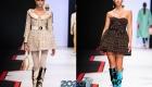 Короткое платье беби-дол в клетку - мода зимы 2019-2020