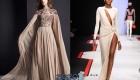 Нюдовые платья осень-зима 2019-2020