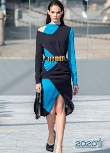 Асимметричное платье сезона осень-зима 2019-2020