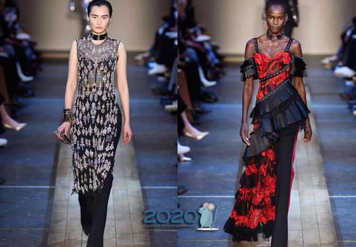 Платье с брюками - тренд 2020 года
