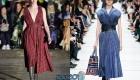 Платье с плиссе и гофре - тренд 2020 года