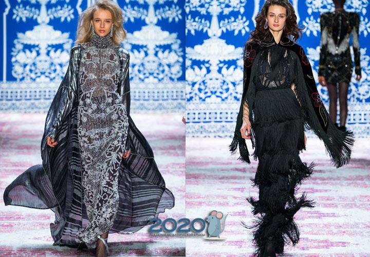 Модное платье 2020 года со шлейфом