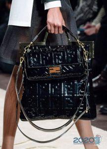 модные двойные сумки 2019-2020 года