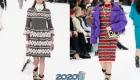 Вязаные платья Шанель зима 2019-2020