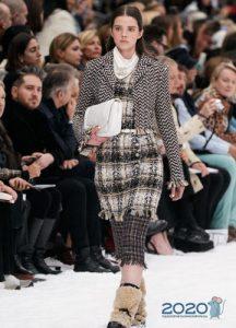 Модная клетка Шанель осень-зима 2019-2020