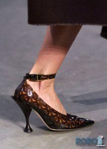 Туфли с каблучком рюмочка - мода 2020 года