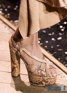 Туфли на платформе со змеиным принтом - мода 2019-2020 года