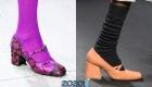 Модные тефли сезона осень-зима 2019-2020 с круглым носком