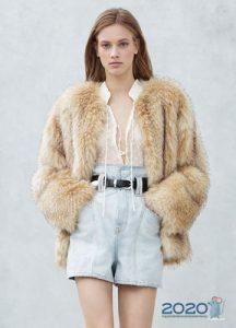 Модная меховая куртка зима 2019-2020