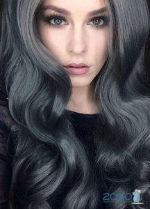Темно-серый цвет волос - мода 2020 года