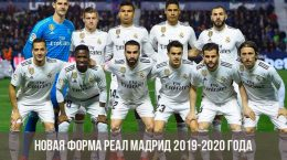Новая форма Реал Мадрид 2019-2020 года