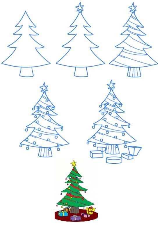 Юбилей мужчине, как нарисовать открытку на новый год поэтапно